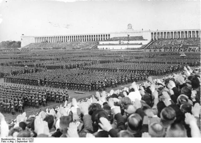 Reichsparteitag - Hitler speaks from the Throne of Satan