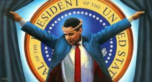 Obama protrayed as Christ.
