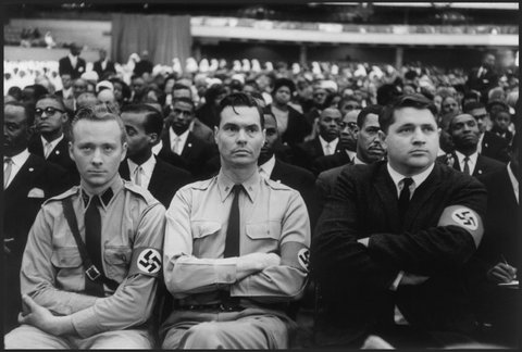 George Lincoln Rockwell, Head, American Nazi Party  at a Nation of Islam Meeting (1961)