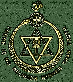 Theosophical Society Logo with Swastika