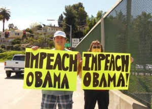Impeach Obama Overpass Demo