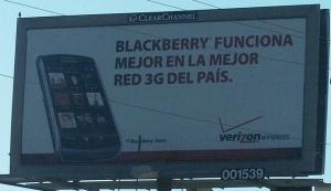 Verizon Billboard in Spanish