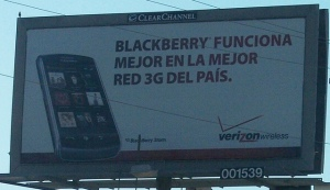Verizon Billboard in Spanish