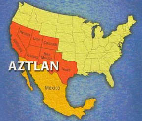 Mexican Separist Map of Aztlan
