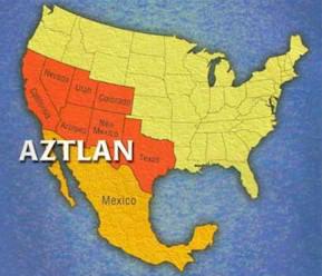 Mexican Separist Map of Aztlan