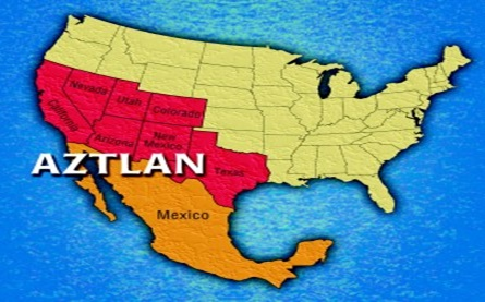 Map of Chicano Homeland of Aztlan