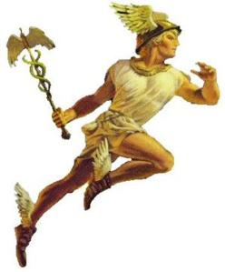 Hermes with his staff