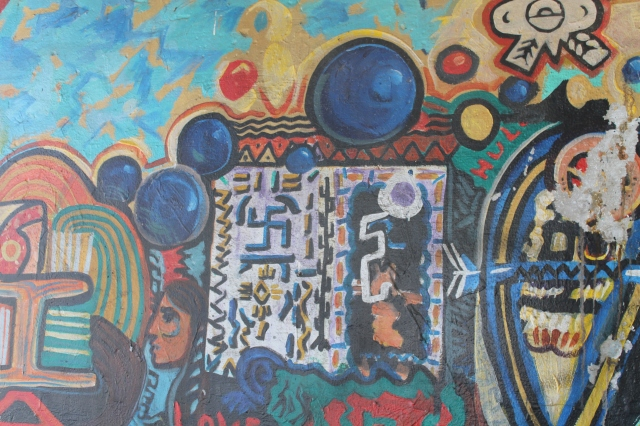 Chicano Mural with a true Nazi Swastika