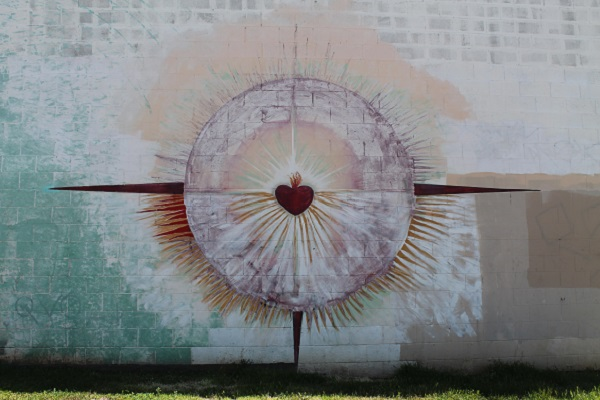Solar Cross with Sacrificial Heart at Chicano Park
