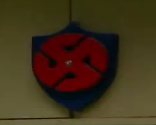 For comparison:  Nazi Swastika at the Aryan Nation Compound