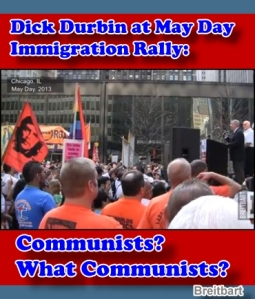 Senator Dick Durbin speaks at May Day/Amnesty Rally