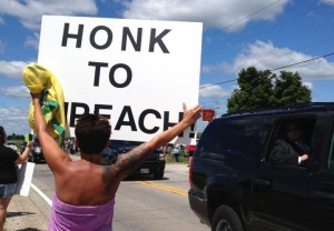 Impeach-Obama Demo (Galesburg, Il, July 1013)