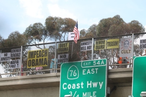 Impeach Obama Overpass Demo in  Oceanside, Ca
