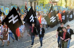 Commemoration of Ukranian SS Division in  Lviv, 2012