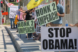 Impeach Obama Overpass Protest in San Diego, Ca