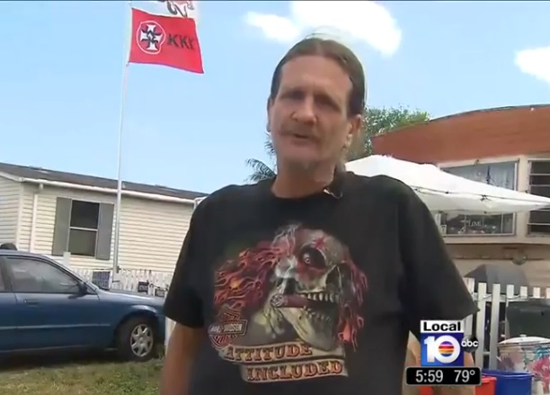 West Boca Raton man proudly flies KKK, confederate flags