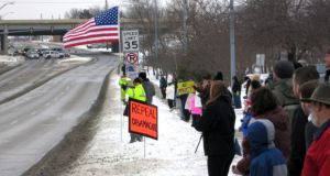 Recent protest in Cedar Falls, Iowa