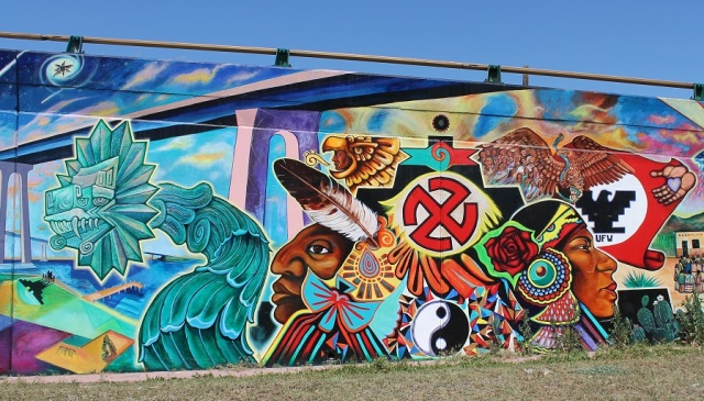 Latino Nationalist Mural at Chicano Park in San Diego