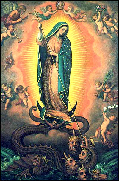 Virgin of Guadalupe Conquest of Good over Evil