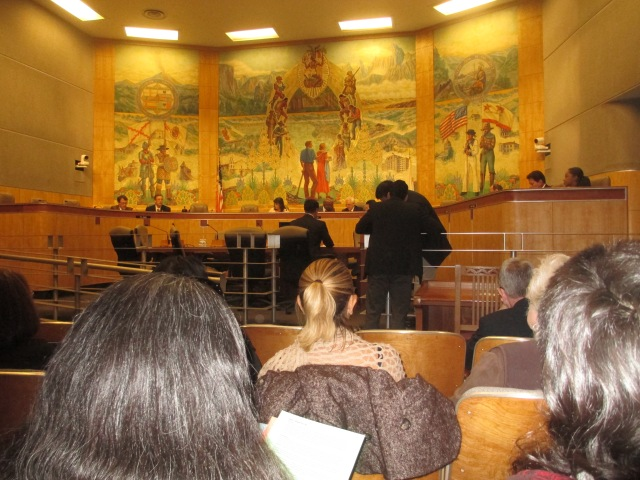 Full view of supremacist mural  Governmental Organization Committee Room