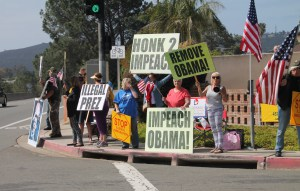 Protest of Obama Fundraiser in La Jolla, California