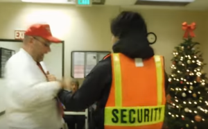 Patriot battered by secuirty
